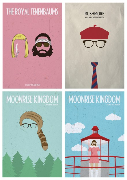 WES ANDERSON – MOVIE POSTERS
